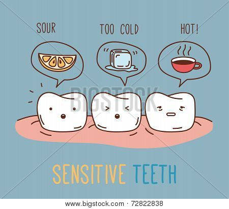 Comics about sensitive teeth.