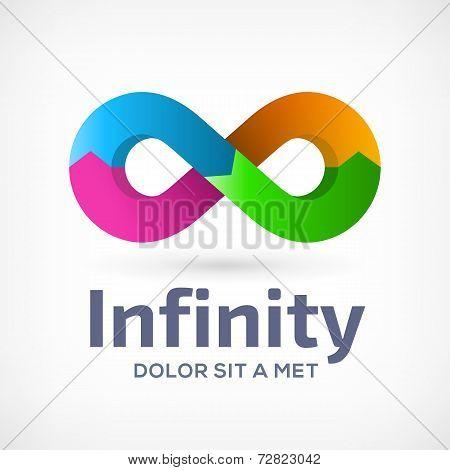 Infinity loop symbol logo icon