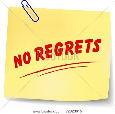 No Regrets Message