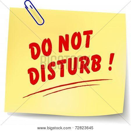 Do Not Disturb Message