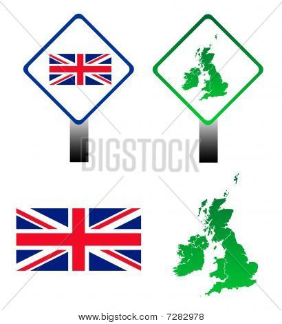 Union Jack Flag Signs
