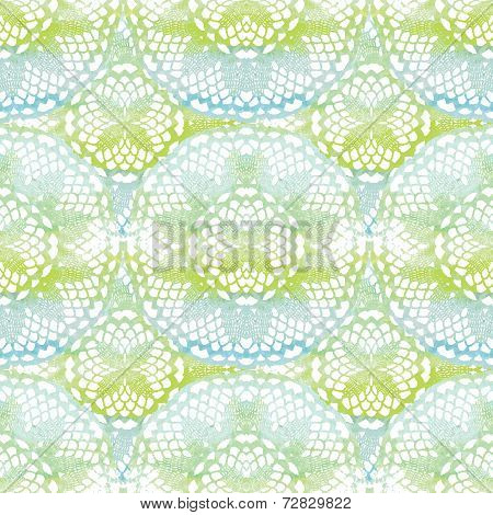 Seamless pattern. Elegant lacy watercolor doilies.
