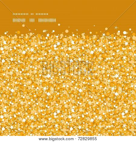 Vector golden shiny glitter texture horizontal frame seamless pattern background