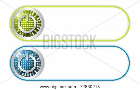 Two Vector Buttons With Grid And Power Button