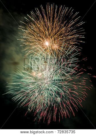 Fireworks To Celebrate The Day Of Mercy 2014 In Barcelona
