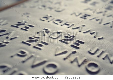 Embossed Writing For Blind People
