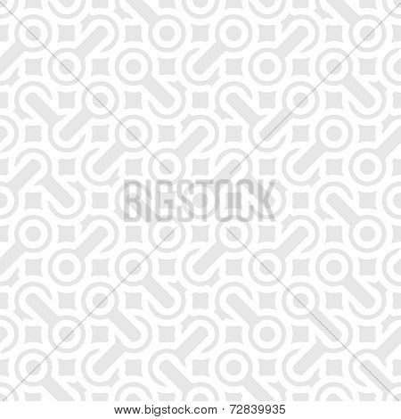 Abstract Simple Geometric Vector Pattern - Interlaced Shapes On Gray Background