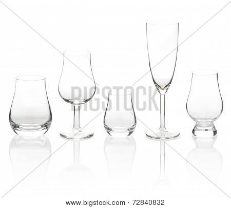 Transparent Cocktail Glasses