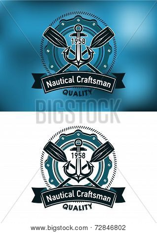 Nautical craftsman emblem