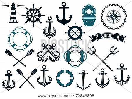 Nautical themed design elements