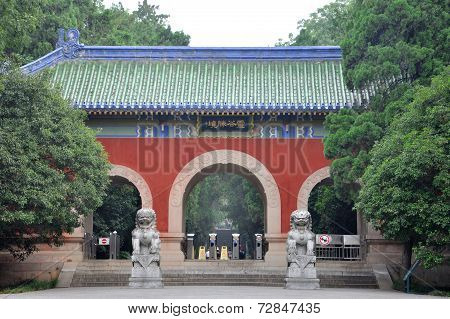 Gate of Linggu Temple, Nanjing, China