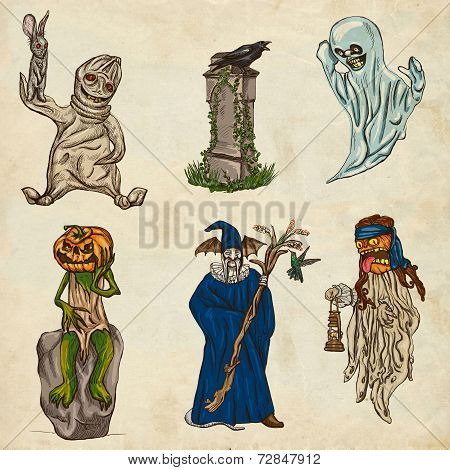 Halloween Avatars - An Hand Drawn Pack