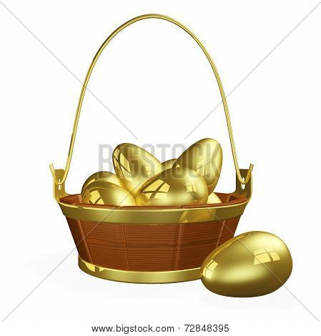 Basket Full Of Gold Eggs