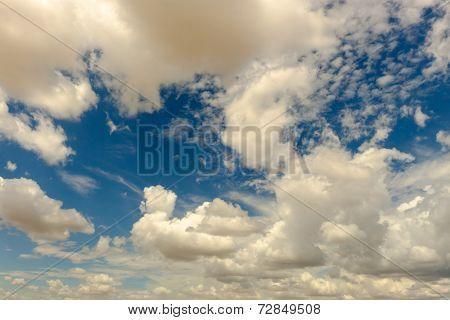 High clouds in a bright blue sky