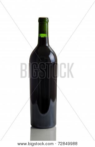 Unlabeled Full Bottle Of Red Wine