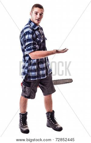 Amazed Lumberjack