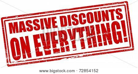 Massive Discounts On Everything