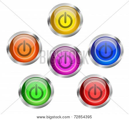 Power Icon Button