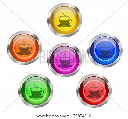 Tea Coffee Cup Icon Button