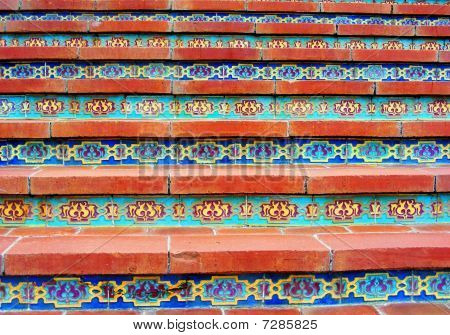 Mosaic Tile Steps