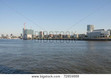 Hamburg HafenCity with the Elbe Philharmonic Hall