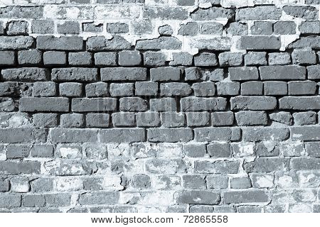 Ancient Brick Wall Of Monochrome Tone