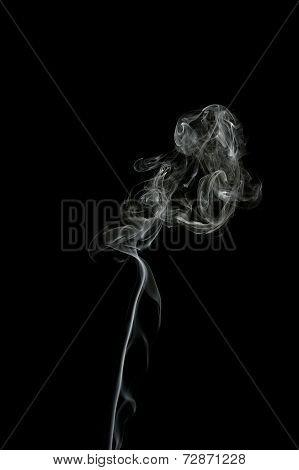 Smoke Trail On Black Background