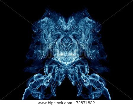 Blue Artistic Smoke On Black Background