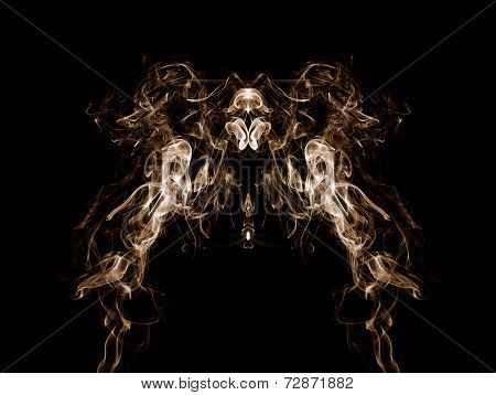 Smoke Pattern On Black Background