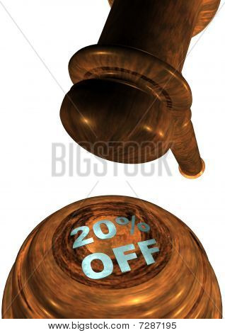 Gavel with 20% OFF