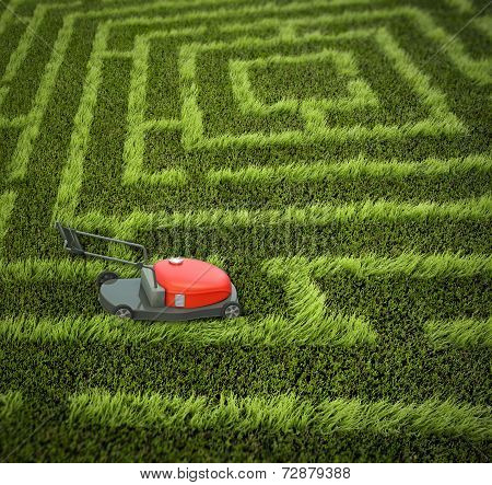 Lawnmower In Maze