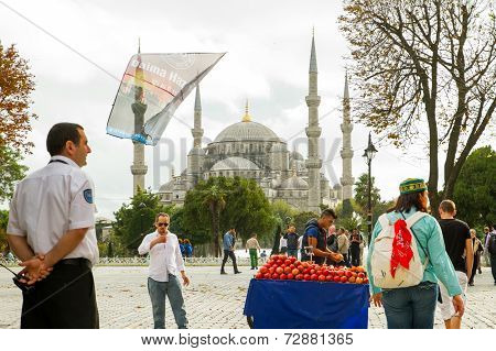 People in square in Istanbul