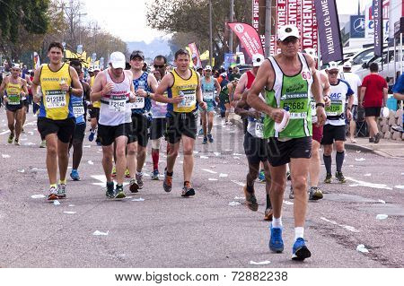 Long Distance Runners At Comrades Ultra Marathon