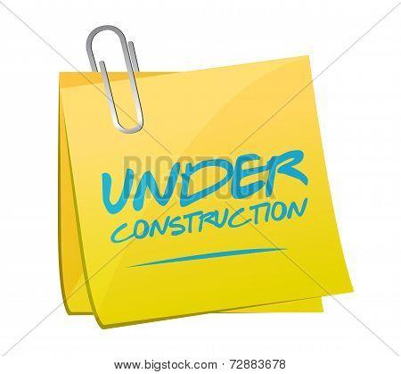 Under Construction Post Illustration Design