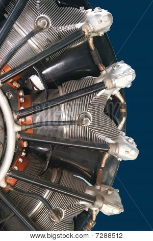 Radial engine of an airplane