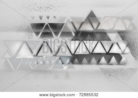 Spray Painting Black And White Triangle