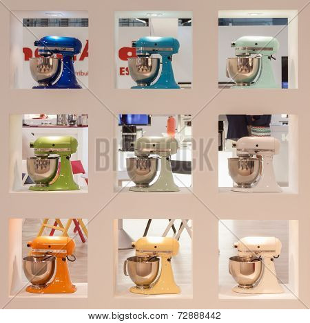 Kitchenaid Machines On Display At Homi, Home International Show In Milan, Italy