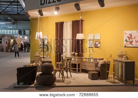 Furnishing On Display At Homi, Home International Show In Milan, Italy