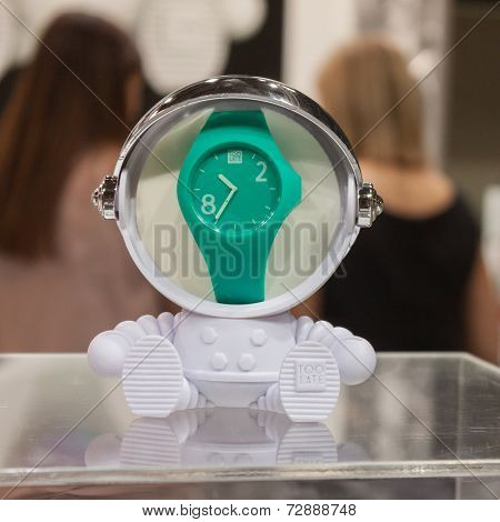 Wrist Watch On Display At Homi, Home International Show In Milan, Italy