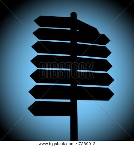 Street Direction Illustration