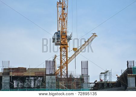 Tower Crane lifting heavy load