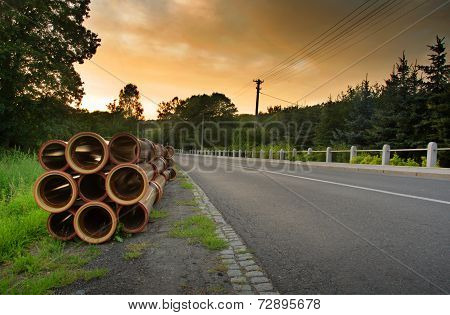Road And Pipes