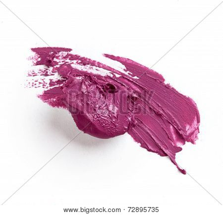 Smudged Purple Lipstick