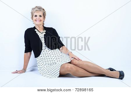 Serior woman studio portrait