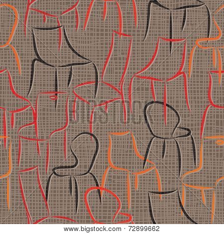 seamless vector pattern with armchairs abstract background