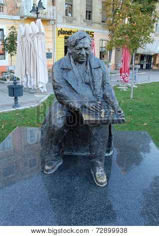 Monument chess players Bora Kostic