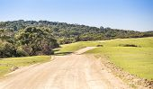 pic of long winding road  - Wide country road winding off into the distance in South Australia