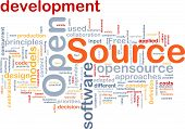picture of open-source  - Background concept wordcloud illustration of open source license - JPG