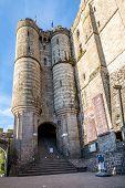 stock photo of mont saint michel  - Entrance to Abbey in Mont Saint - JPG