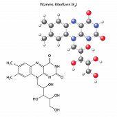 foto of enzyme  - Riboflavin molecule  - JPG